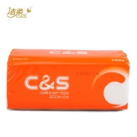 洁柔C&S200抽抽取式纸面巾,200mm*192mm*200抽(二层)CR015