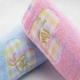 金号提缎绣面巾G1892,74*35(礼盒桃心,蓝、粉)