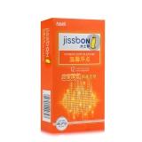 杰士邦 天然胶乳橡胶避孕套12只(温馨浮点)
