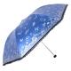 镜面彩胶三折超轻晴雨伞,蝶舞心动33187E蓝色