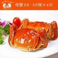阳澄湖大闸蟹8只装888元礼券,全母2.6-3.0两8个