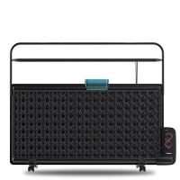 桑普(Sampux)DB2225MS 防水防烫大烘衣架薄板式电热油汀取暖器/电暖器/电暖气(黑色)