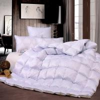 富安娜家纺被子冬被羽绒被 格拉斯哥鹅绒冬厚被 1.5米床(标准) 粉色