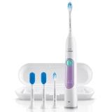 飞利浦(PHILIPS)电动牙刷HX6616 / 51 成人充电式牙龈护理型声波震动牙刷 优雅靓紫(3档强度 2刷头 2舌苔刷 1旅行盒)