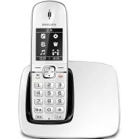 飞利浦(PHILIPS) DCTG490 数字无绳电话机 来电显示/数字无绳/语音报号/全中文菜单/免提通话(白色)