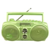 金业(GOLDYiP)GP-938UC迷你音响 多功能收录机 内置话筒 磁带内外录音、放音 FM收音 USB TF卡 绿色