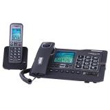 中诺(CHINO-E)H802 固定电话机无绳座式子母机一拖一家用办公室无线座机 雅士黑