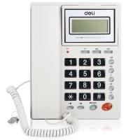 得力(deli)786来电显示办公家用电话机/固定电话/座机 液晶显示屏 可摇头 透明时尚按键 耐磨不褪色