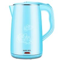 奥克斯(AUX)电水壶304不锈钢电热水壶烧水壶双层防烫1.8升 HX-128K1