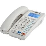 中诺(CHINO-E) C199 可接分机/免电池/一键拨号电话机座机办公/家用座机电话/固定电话座机 白色