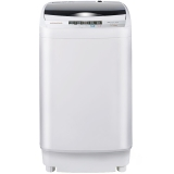 韩电(KEG)XQB55-D1518 5.5公斤 全自动波轮洗衣机 童锁 一键脱水 快速洗涤(透明黑)