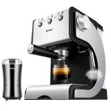 东菱(Donlim)CM4621C-3C 意式咖啡机 20Bar高压萃取 双层滤网 不锈钢机身