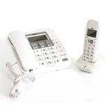 得力(deli) 791 数字无绳电话机/子母机2.4G 来电显示 全免提 素雅白