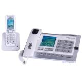 中诺(CHINO-E)H802 固定电话机无绳座式子母机一拖一家用办公室无线座机 珠光白