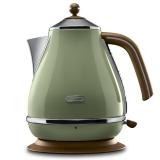 意大利德龙(Delonghi) KBO2001(橄榄绿)电热水壶 食品级304不锈钢 1.7升 大容量 自动断电 欧洲技术