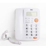 得力(deli)780来电显示办公家用电话机/固定电话/座机 透明时尚按键
