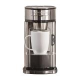 汉美驰(Hamilton Beach)咖啡机 美式免滤纸滴漏式特浓不锈钢 49981-CN