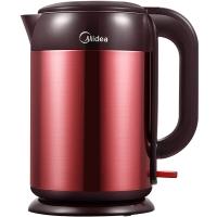 美的(Midea)电水壶H215E4b 304不锈钢电热水壶 1.5L容量 无缝一体内胆 双层彩钢烧水壶(赤兔)