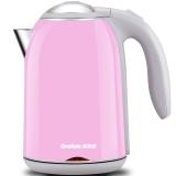 格来德(Grelide)电水壶304不锈钢电热水壶双层防烫1.7升D1513A(粉红)