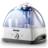 奔腾(POVOS)加湿器 5L大容量 欧式设计带净化滤芯 静音迷你办公室卧室客厅家用带夜灯加湿 PW115
