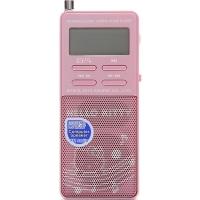 凯蒂猫(Hello Kitty) KT-RA3 便携式时尚数码收音机 迷你音响 FM收音/SD便携式音响(粉色)