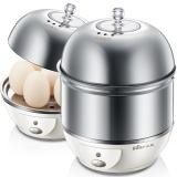 小熊(Bear) 单双层 多功能 全不锈钢 家用自动断电 煮蛋器 蒸蛋器 早餐机ZDQ-A06W1