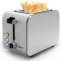 东菱(Donlim)面包机 多士炉宽槽早餐机全不锈钢烤机身 DL-8117(不锈钢色)