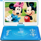 先科(SAST)32D 便携式移动DVD播放机(巧虎dvd影碟机cd老人唱戏看戏视频机 光盘usb播放器 10.1英寸)蓝色