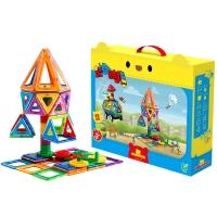 优彼(ubbie)能动磁力片积木 100片装 百变提拉 磁性积木磁铁拼装建构片 1-6岁儿童玩具