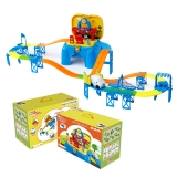 优彼(ubbie)欧力音乐轨道车 超级洗车王 百变轨道益智拼搭电动玩具小汽车 1-6岁儿童玩具