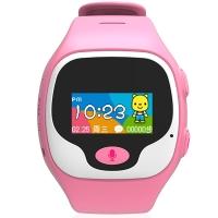 优彼(ubbie)早教故事电话手表 学生360度安全定位微聊通话手环3岁以上儿童手表 粉色