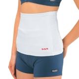 D&M 保暖护腰日本远红外暖胃腰带暖宫束腰原装进口护腰带棉 5400白色M(2.31-2.49尺)