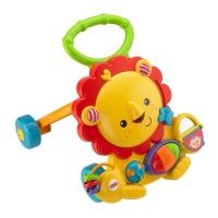 费雪(Fisher Price) 多功能早教启智玩具 声光狮子手推车学步车Y9854