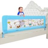 棒棒猪(BabyBBZ)儿童床护栏宝宝床围栏婴儿床挡板护栏防夹手1.8米 浅蓝小熊 BBZ-812