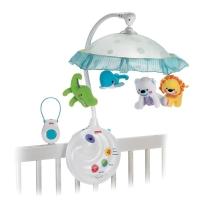 费雪 益智玩具 可爱动物两用声光床铃N8849