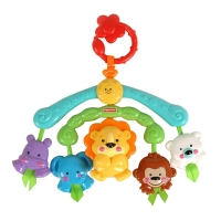 费雪(Fisher Price)益智玩具 可爱动物便携迷你童车摇铃/床铃R9681(0-24个月)