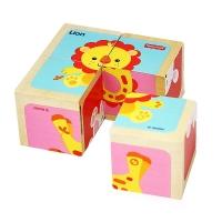 费雪 Fisher Price 益智早教玩具 木质环保六面画-狮子FP1001A