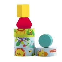 费雪(Fisher Price)木质益智玩具 形状分类套塔 FP1002