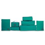 必优美 BUBM 收纳包 旅行洗漱收纳套装7件套 行李箱衣服整理收纳袋 轻质防泼水 QJT深青色