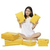 必优美 BUBM 收纳包 旅行洗漱收纳套装7件套 行李箱衣服整理收纳袋 轻质防泼水 QJT黄色