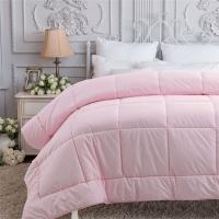 多喜爱(Dohia)被子 磨毛双人七孔羊毛被 保暖冬被 被芯 粉色 1.5米床 200*230cm