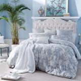 多喜爱(Dohia)床品套件 双面天丝印花四件套 床单款 爱芳逸 双人 1.8米床 230*230cm