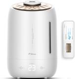德尔玛(Deerma)加湿器 5L大容量 触控感温 家用静音迷你办公室卧室香薰加湿 DEM-F600(珍珠白)