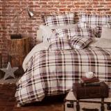 多喜爱(Dohia)床品套件 全棉加厚磨毛条格四件套 床单款 韵律 双人 1.8米床 230*229cm