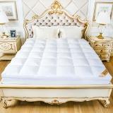 鸿润 优雅宝贝 床垫家纺 全棉鹅毛片床垫床褥 榻榻米透气床褥子 酒店床护垫 白色 填充量5.4kg 适用1.8米床