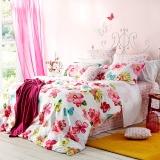多喜爱(Dohia)床品套件 全棉斜纹印花四件套 床单款 霞光木槿 1.8米床 230*230cm