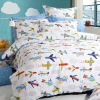 多喜爱(Dohia)床品套件 全棉斜纹双人四件套 床单款 飞行梦 1.5米床 200*230cm