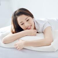 大朴(DAPU)枕芯家纺 A类枕头 静眠乳胶枕 泰国天然乳胶 真空物理发泡 轻薄透气枕 护颈枕 面包款  65*40cm