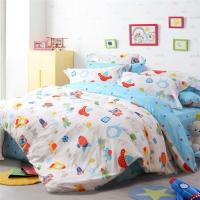 多喜爱(Dohia)床品套件 全棉斜纹卡通四件套 床单款 穿越未来 双人 1.8米床 230*230cm