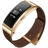 华为(HUAWEI)华为手环B3   (蓝牙耳机与智能手环结合+金属机身+触控屏幕+真皮腕带) 商务版 摩卡棕